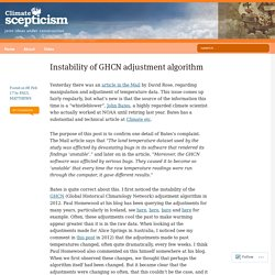 Instability of GHCN adjustment algorithm