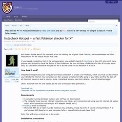 a fast Pokémon checker for XY