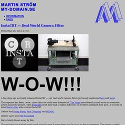 InstaCRT — Real World Camera Filter — Martin Ström
