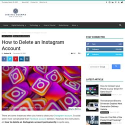 How to Delete an Instagram Account - Digital Sushma