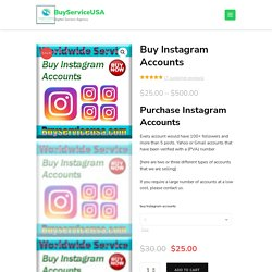 Buy Instagram Accounts - Real Aged verified IG Accounts cheap price