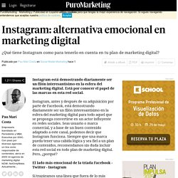 Instagram: alternativa emocional en marketing digital