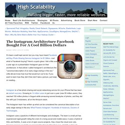 The Instagram Architecture Facebook Bought for a Cool Billion Dollars