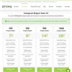 Instagram Beğeni Satın Al - Keşfet Etkili Beğeniler Crovu'da!