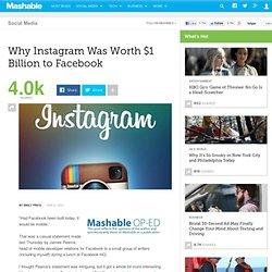 Why Instagram Was Worth $1 Billion to Facebook