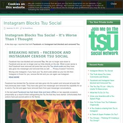 Instagram Blocks Tsu Social - It's Worse Than I Had Feared