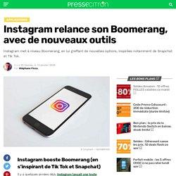 Instagram relance son Boomerang, avec de nouveaux outils