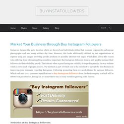 Market Your Business through Buy Instagram Followers