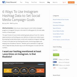 6 Ways To Use Instagram Hashtag Data to Set Social Media Campaign Goals