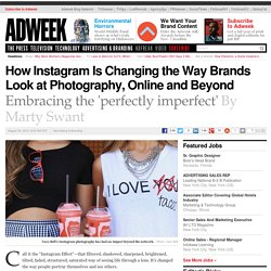 How Instagram Is Changing the Way Brands Look at Photography, Online and Beyond