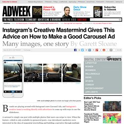 Instagram's Creative Mastermind Gives This Advice on How to Shoot a Carousel Ad