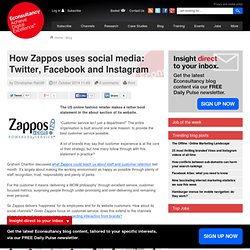 How Zappos uses social media: Twitter, Facebook and Instagram