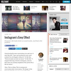 Instagram's Envy Effect