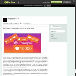 Buy Instagram Followers and St…