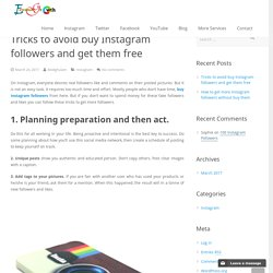 Tricks to avoid buy Instagram followers and get them free - Extremegrowth