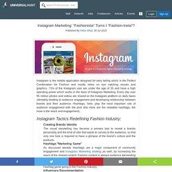 "Instagram Marketing: ""Fashionista"" Turns t ""Fashion-Insta""?"