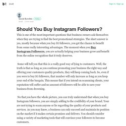 Should You Buy Instagram Followers? – Social Bundles – Medium