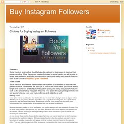 Buy Instagram Followers: Choices for Buying Instagram Followers