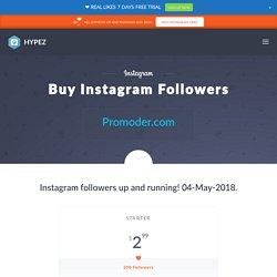 Hypez - Buy Instagram Followers $2.95 [Instant] - Free Trial