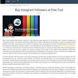 Buy Instagram Followers at Free Trial - Extreme Growth