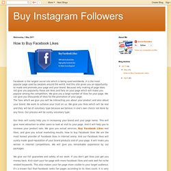Buy Instagram Followers: How to Buy Facebook Likes