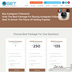 Instagram Followers - Get cheap views