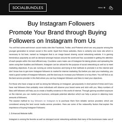 Buy Instagram Followers from UK's number 1 Social Media Services Provider