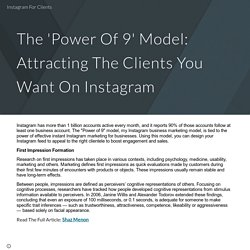 The 'Power Of 9' Model: Attracting The Clients You Want On Instagram