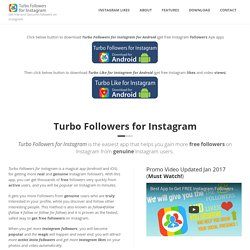 Get Free Instagram Followers (Android and iOS app) – FreeLike4Like.com