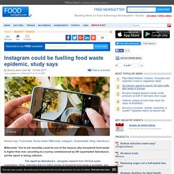Instagram could be fuelling food waste epidemic, study says
