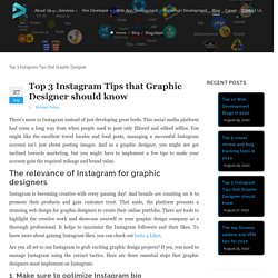 Top 3 Instagram Tips that Graphic Designer should know