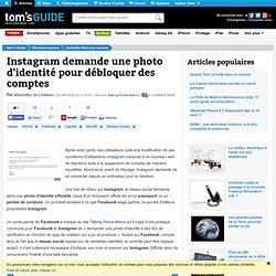 Instagram demande une photo d'identité pour débloquer des comptes