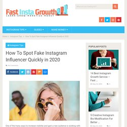 How To Spot Fake Instagram Influencer Quickly in 2020 - Fast Insta Growth