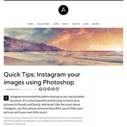 Quick Tips: Instagram your images using Photoshop