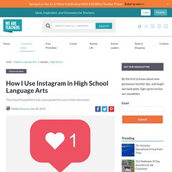 """How I Use Instagram in High School Language Arts"" - Gray"