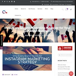 Instagram Growth Marketing Manager for Your Canadian Business