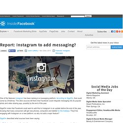 Report: Instagram to add messaging?