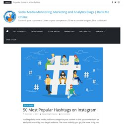 50 Most Popular Hashtags on Instagram