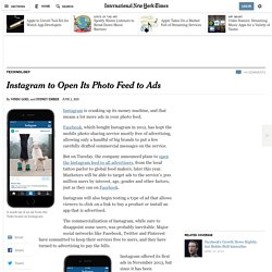 Instagram to Open Its Photo Feed to Ads