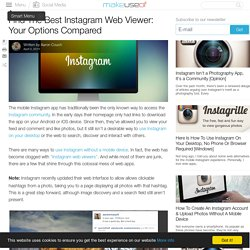 Find The Best Instagram Web Viewer: Your Options Compared
