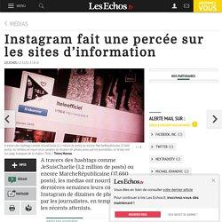 Instagram fait une percée sur les sites d'information, Médias