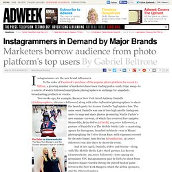 Instagram Photographers in Demand by Major Brands