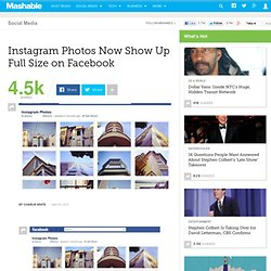 Instagram Photos Now Show Up Full Size on Facebook