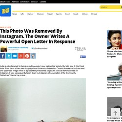 This Photo Was Removed By Instagram. The Owner Writes A Powerful Open Letter In Response
