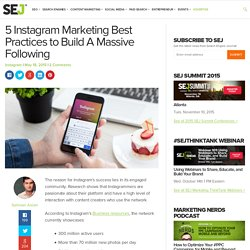 5 Instagram Best Practices to Build Massive Following