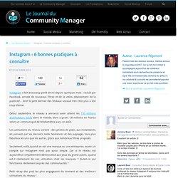 Instagram : 6 bonnes pratiques à connaître - Le JCM