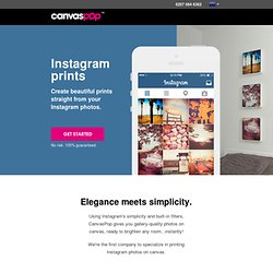 Print Instagram photos | CanvasPop