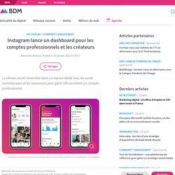 Instagram lance un dashboard pour les comptes professionnels et les créateurs