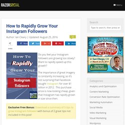 How to Rapidly Grow Your Instagram Followers
