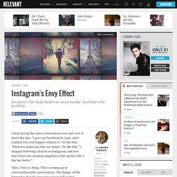 Instagram's Envy Effect